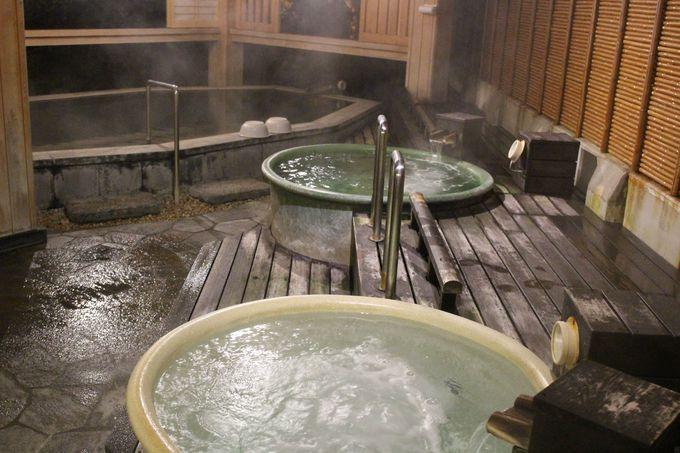 弓ヶ浜の波の音を聞きながら入浴できる庭園露天風呂!壺湯は温泉掛け流し!!