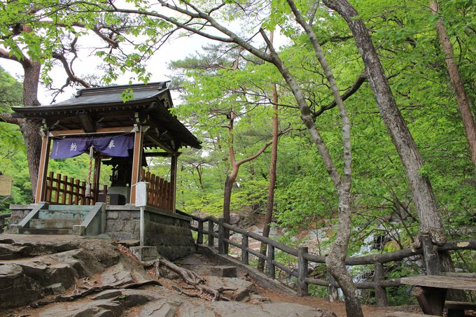 鬼怒川・川治温泉の守護神「五龍王神社」と落差20メートルの「虹見の滝」