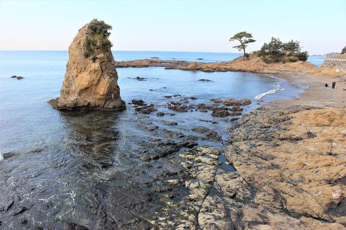 三浦半島南西部の海岸線が面白い!立石や鬼の洗濯板を散策