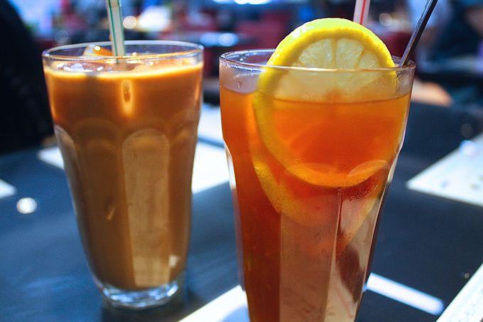 鴛鴦茶にレモンたっぷりアイスティー!ドリンクもかなり香港