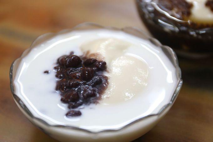 ミルクに潜む豆花!あんこと牛乳のベストマッチ「同記安平豆花」