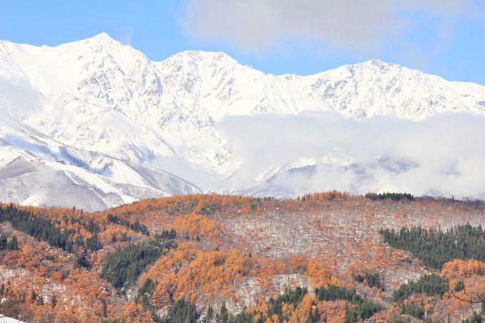 白沢峠へ向かう途中の眺望も綺麗です。
