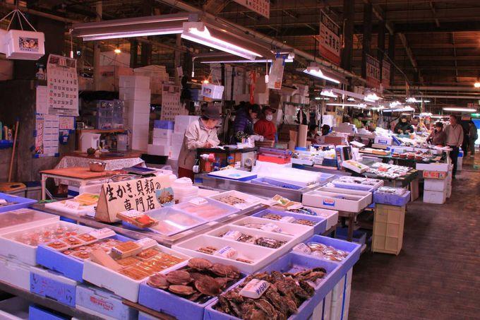 360もの店舗がひしめく塩釜水産物仲卸市場