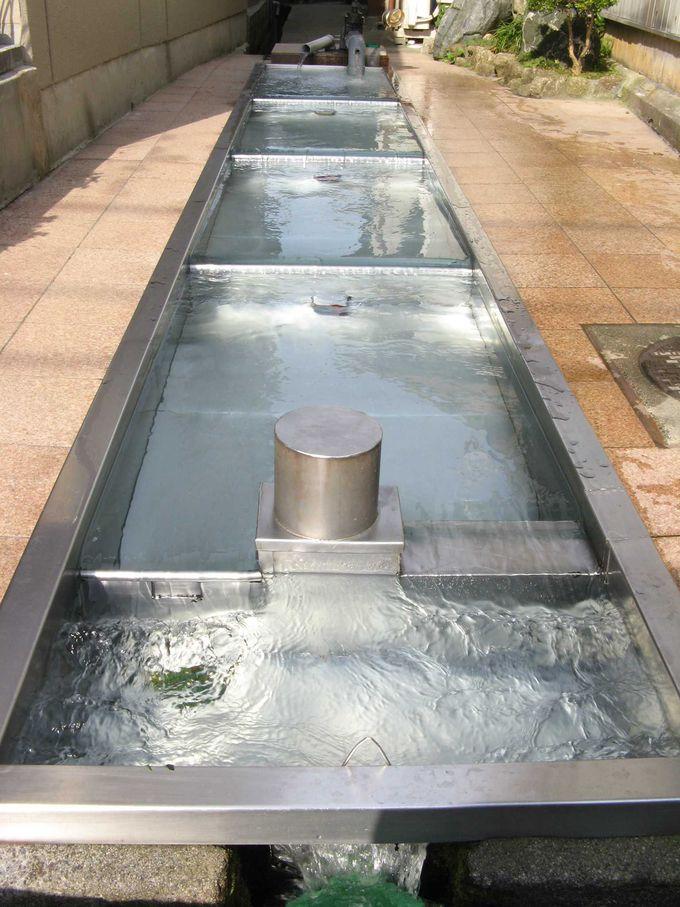 日本の名水100選に選定された生地の湧水群