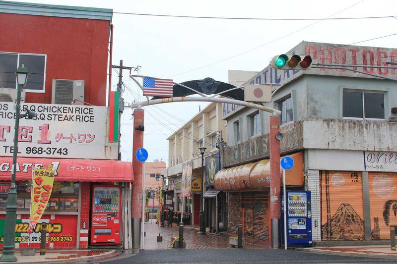哀愁漂うアメリカナイズな街並とタコライス発祥の地 金武町新開地