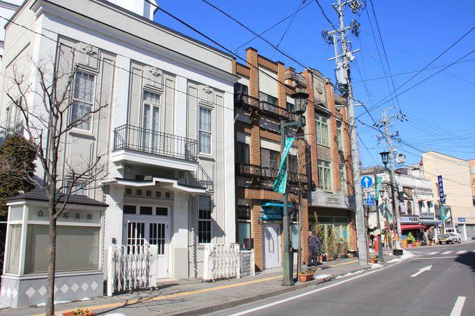 レトロモダンな建物が並ぶ 上土通り界隈