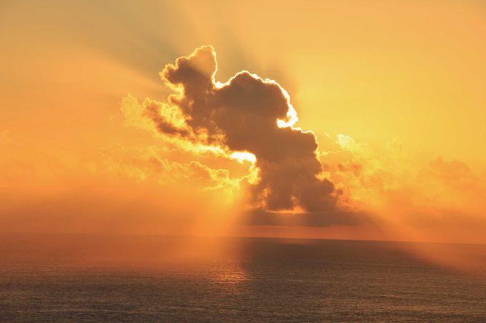美しい夕日を眺める絶好スポット ウエザーステーション