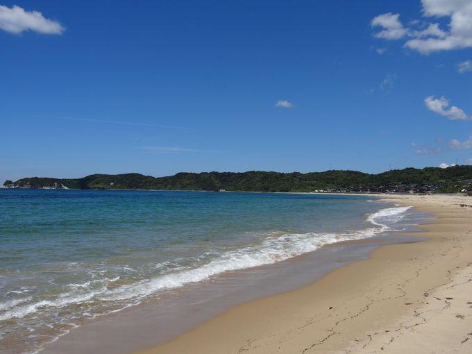 日本の渚100選の美しい海岸!琴ヶ浜