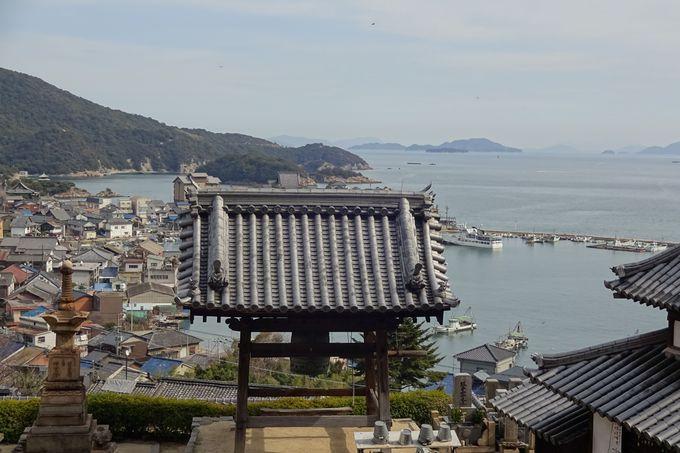 医王寺からの美しい鞆の浦の眺め・・