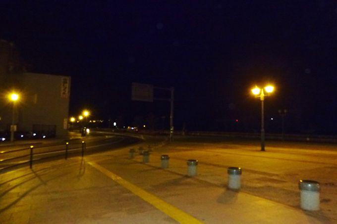 夜の尾道港・駅前桟橋を潮風に吹かれてさわやか散歩〜