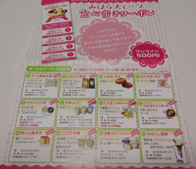 うきしろロビー(三原観光案内所)で、クーポン券をゲットする!