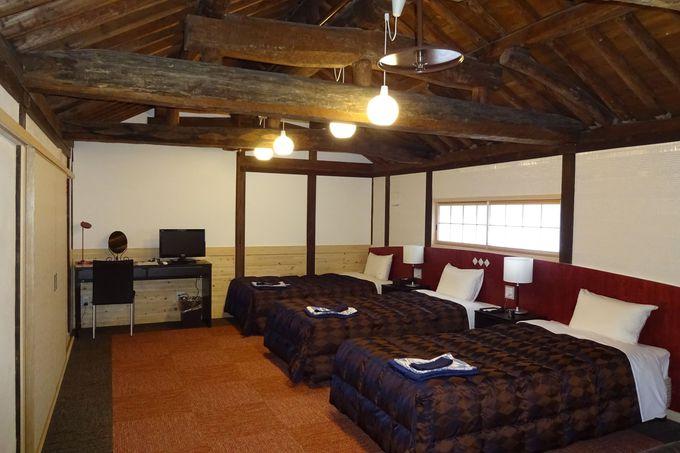 長屋門の上部の寝室で、江戸時代を想像してみて♡