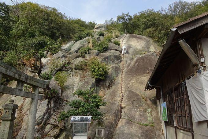 岩山を登って修験道体験「海龍寺」