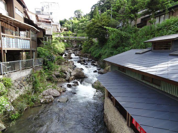 湯平温泉の中心に位置する「砂湯」は風情たっぷり