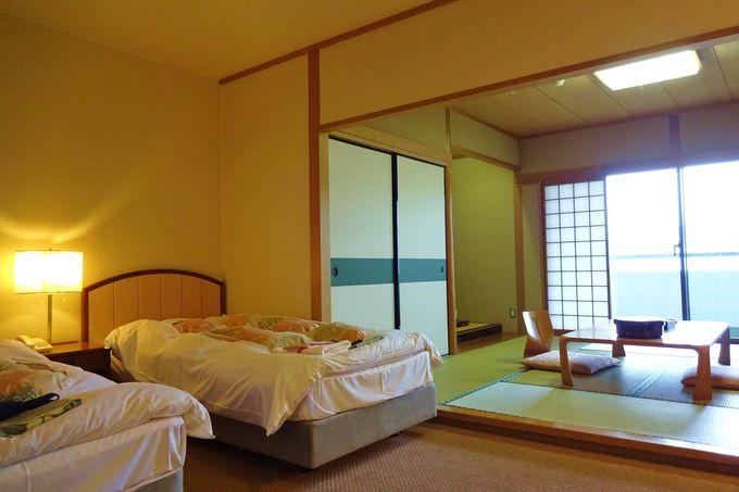 広々とした北館の和洋室は、ゆったりくつろげる・・