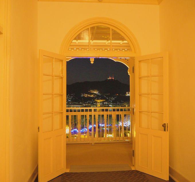 グラバー園「旧三菱第2ドックハウス」から眺める「稲佐山公園展望台」