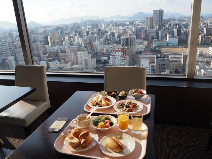 25階からの絶景も自慢!レストラン「コフレール」での朝食