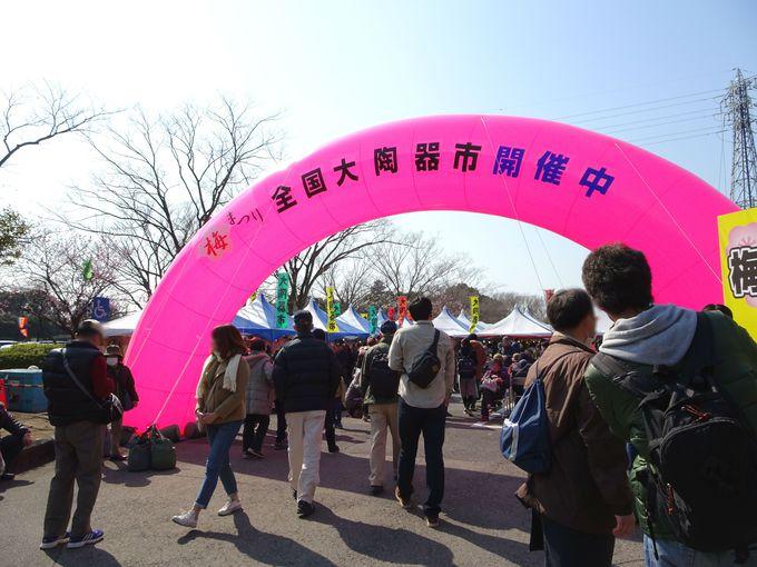 魅力3:梅まつりと同時開催される「全国大陶器市」が激アツ!