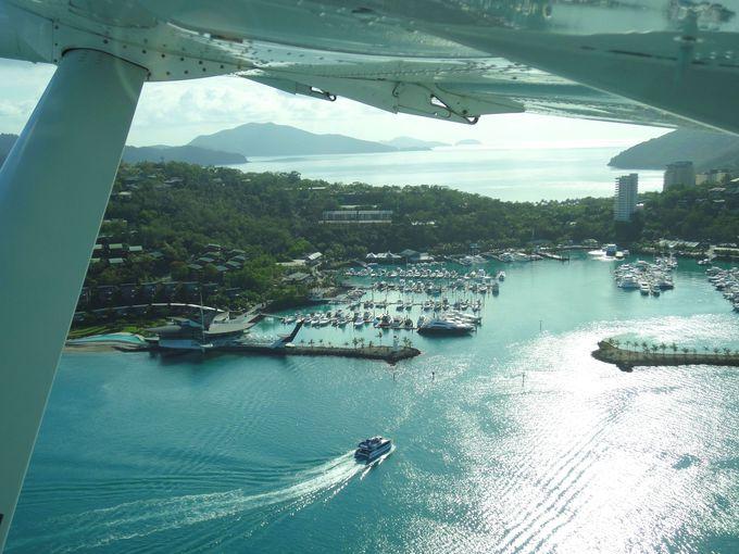 上空から見る「ハミルトン島」