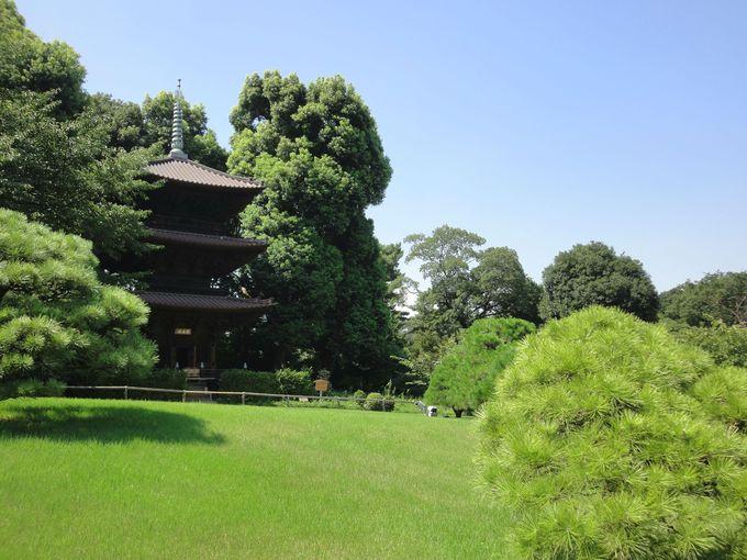 ホテル椿山荘東京の三重塔「圓通閣」
