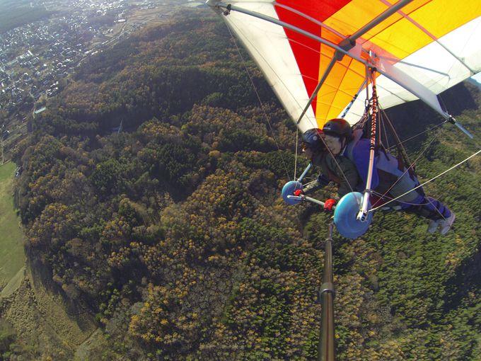 いざ離陸・・・富士山とともに空中飛行!