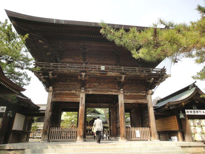 昭和50年に再建!「随神門」
