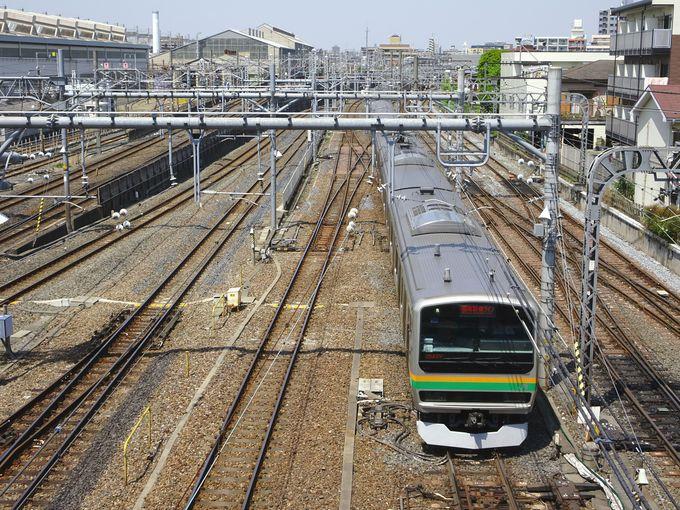 必見スポット2:大栄橋上から走る電車を撮影する!