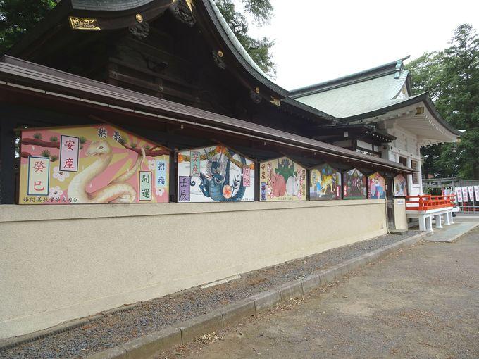 見どころ3:白岡高校美術部が毎年奉納している、アートな「大絵馬」