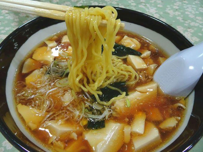ランチは、話題の「豆腐ラーメン」がおすすめ!