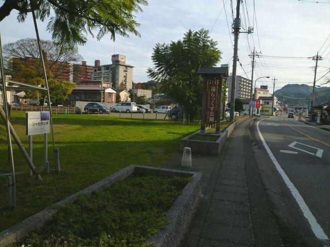 無料で入れる足湯、健康遊歩道がある! 伊豆長岡「湯らっくす公園」