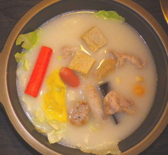 白い謎のスープ