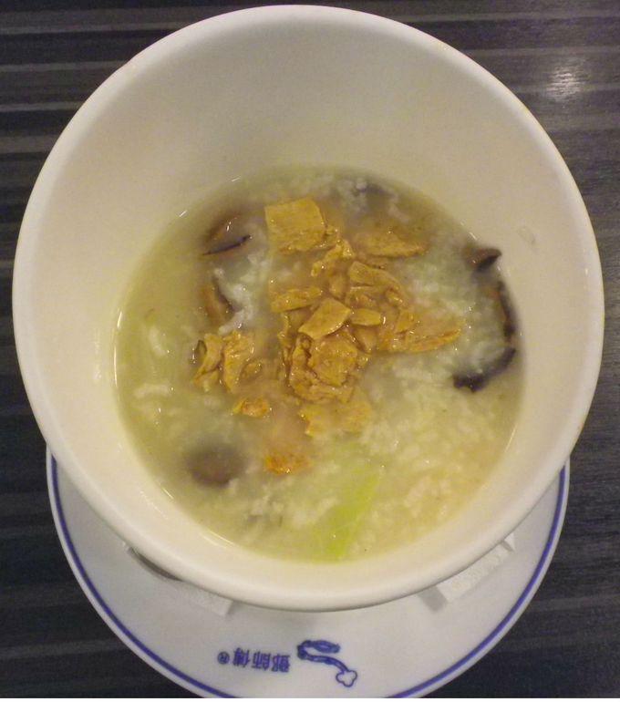 中華粥の朝ごはん♪