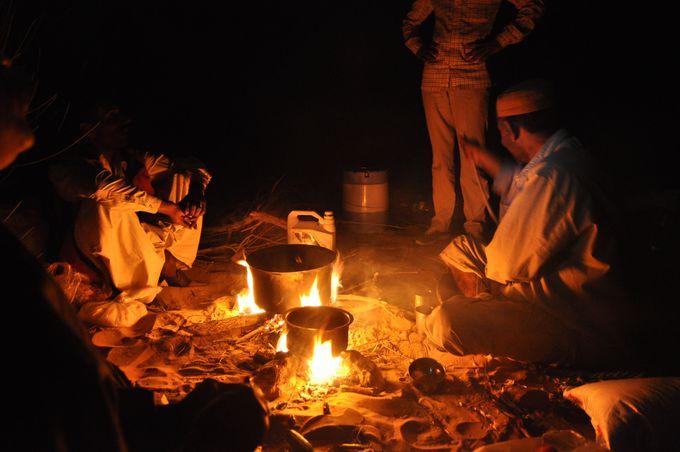 いよいよ砂漠でキャンプ。遊牧民族の気分を存分に味わう