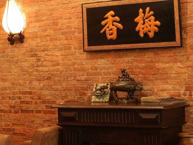 中国と西洋の古き良き時代の影が残る内装