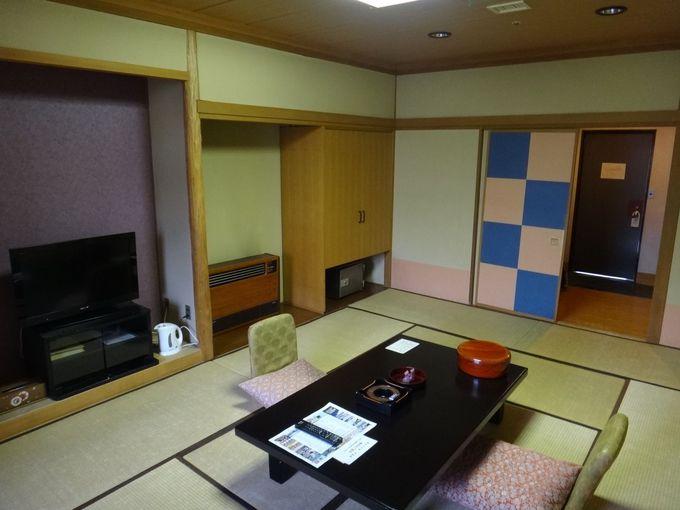 新和風のお部屋と天然の石和温泉!