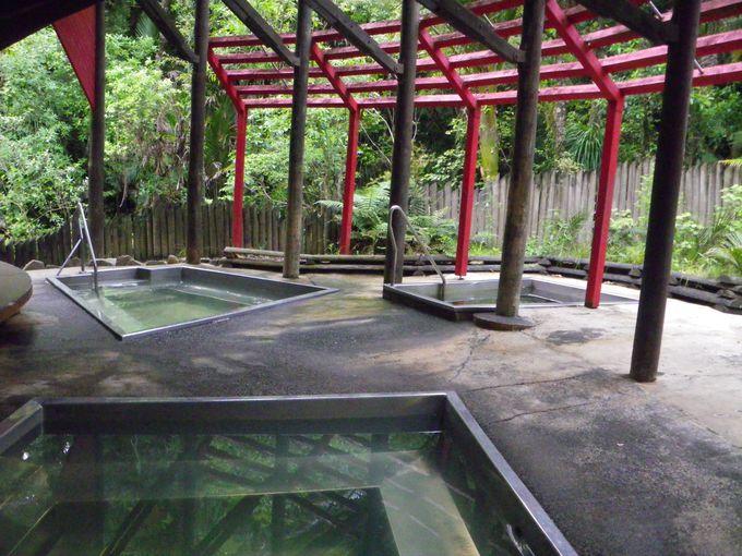 熱帯雨林の中の天然温泉