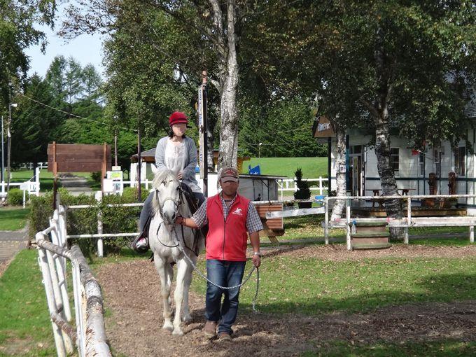 鹿追町ライディングパークで体験乗馬!