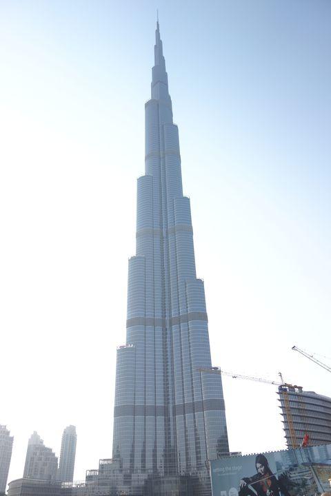 世界一高いビルから見るアラブの景色