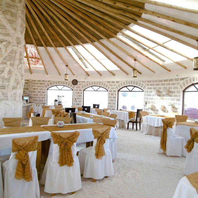 ウユニ塩湖の眺望レストラン