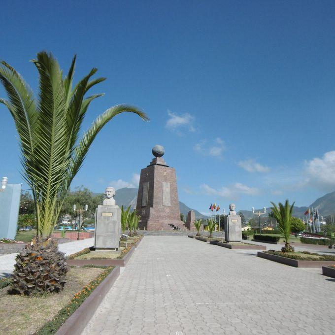 赤道記念碑公園の隣に...