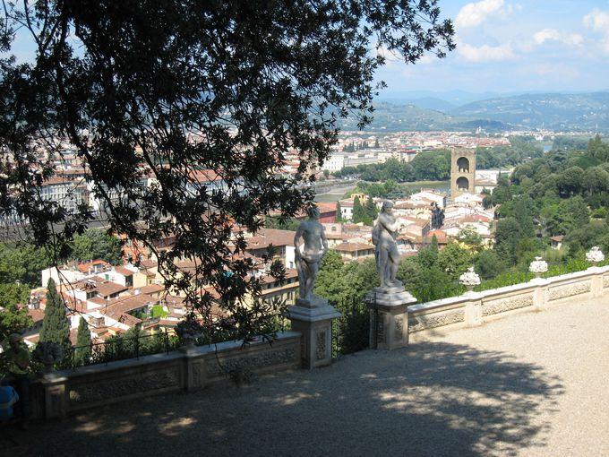 バルディーニ庭園から臨むフィレンツェの街