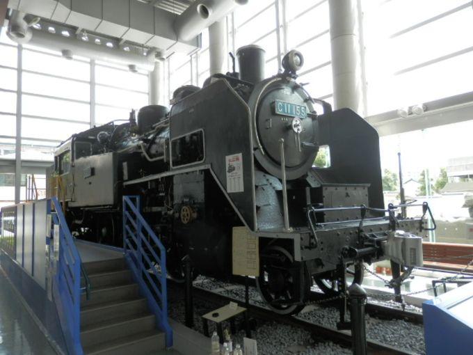 大人の方が喜ぶ?蒸気機関車がお出迎え。SL(C11 155号蒸気機関車)