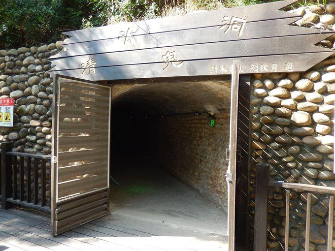 山中に残る日本の戦時遺構「清水鬼洞」