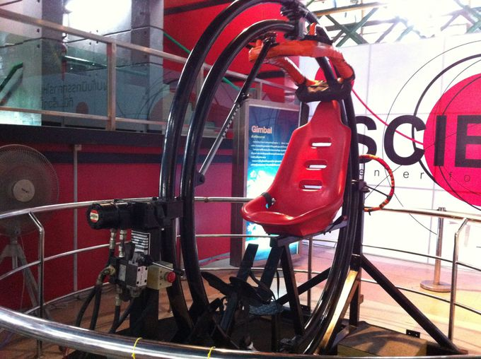 360度ぐるぐると回転!スリル満点の宇宙船体験