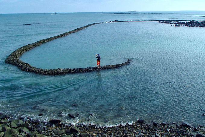 ハート型の「澎湖石滬群」は台湾っ子の恋愛成就スポット