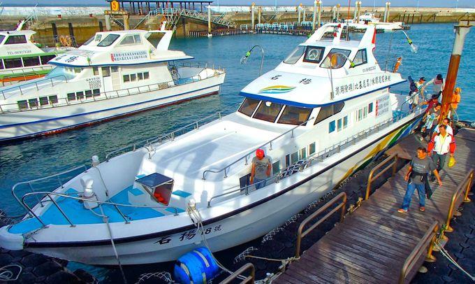 船に乗って「吉貝島」へ
