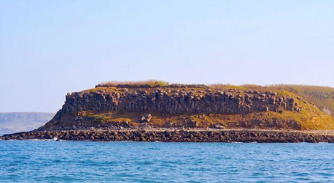 「澎湖玄武岩自然保護区」に指定された島々を眺めて