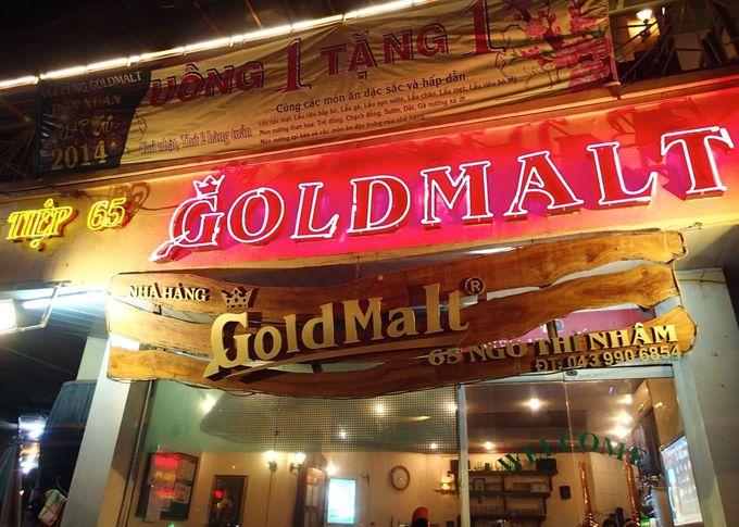ハノイっ子の一番人気といえば「ゴールド・モルト」