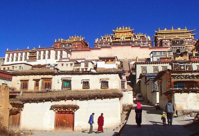 シャングリラの街の外れにたたずむ天空の城「松賛林寺」