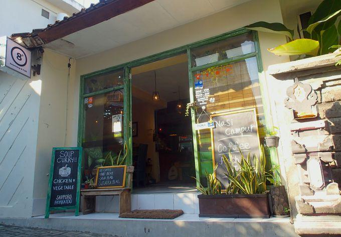 高級ヴィラが建ち並ぶ一角にある「Bali Select shop & Cafe8」